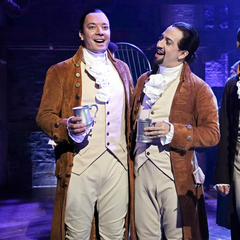 """Image of Jimmy Joins Lin-Manuel Miranda and the Hamilton Cast for """"The Story of Tonight"""""""